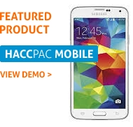 New Product: HACCPAC Mobile. view demo ›